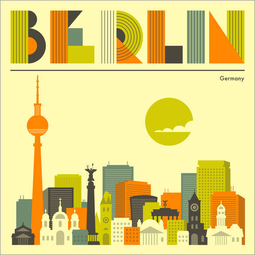 Sticker mural Skyline de Berlin