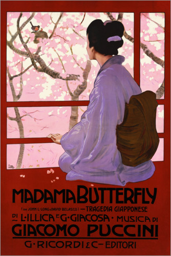 Poster Puccini, Madame Butterfly