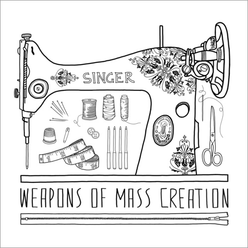 Sticker mural Weapons Of Mass Creation - Sewing