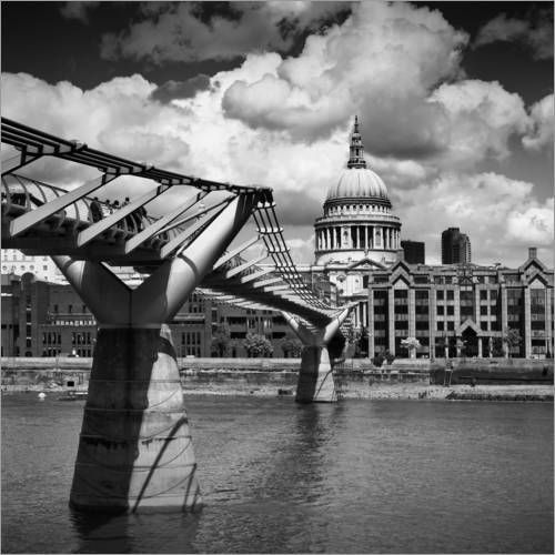 Sticker mural LONDON Millennium Bridge and St Paul's Cathedral