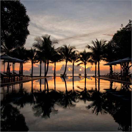 Sticker mural Luxury infinity pool on the Gulf of Thailand