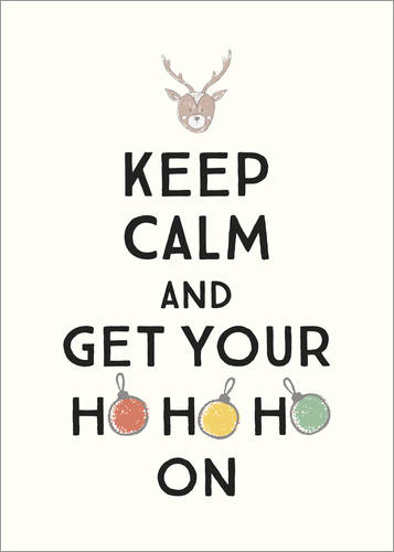 Poster Keep calm and get your Hohoho on