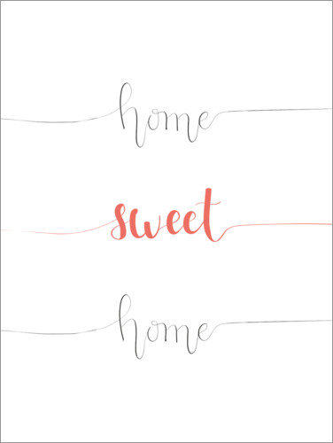 Poster Home sweet home