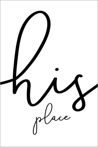 Poster His place