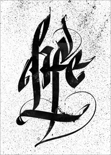 Poster Calligraphie Life