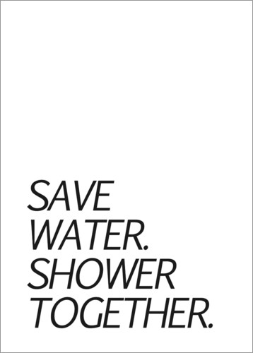 Poster Save water