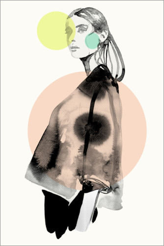 Poster Fashion en couleurs pastel II