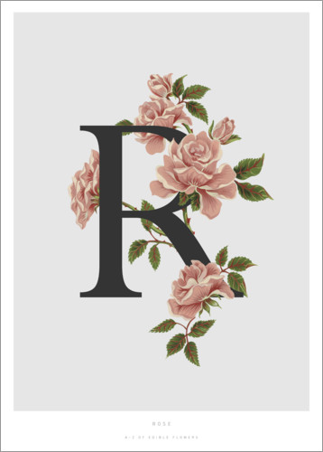 Poster R is for Rose