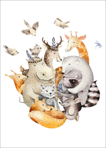 Poster Amis des animaux