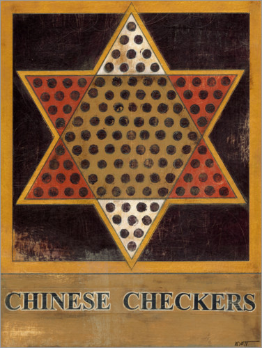 Poster Chinese Checkers (Dames chinoises)