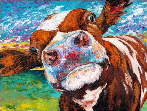 Poster Vache curieuse II