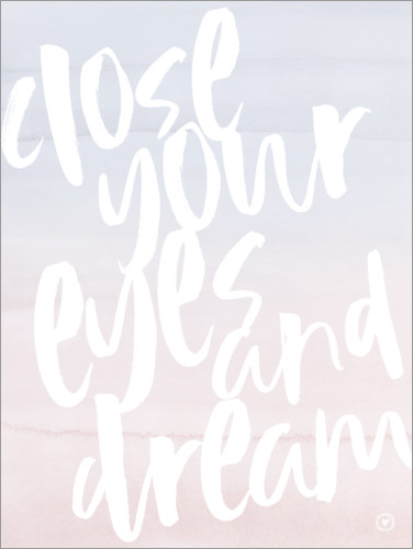 Poster Close your eyes