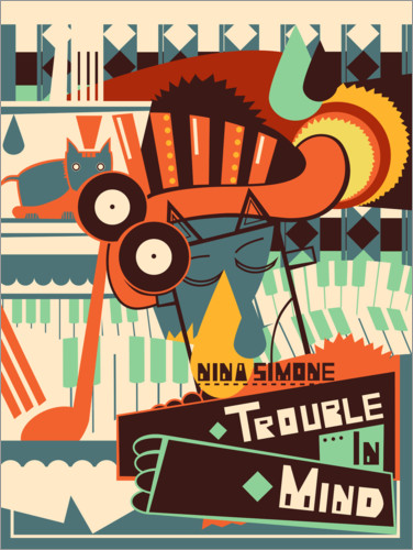 Poster Nina Simone, Trouble in Mind