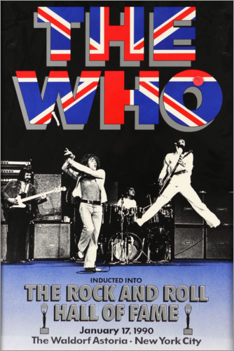 Poster The Who, Hall of Fame