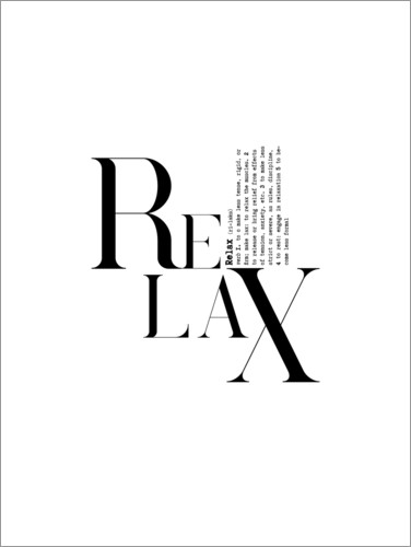 Poster Relax (anglais)