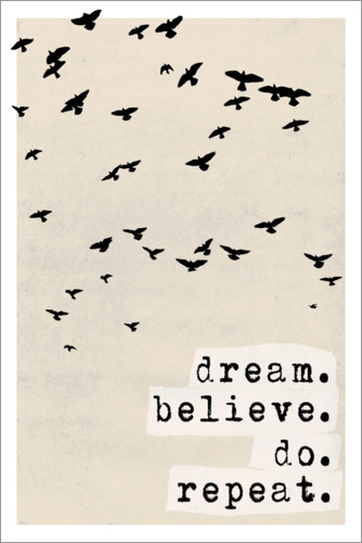 Poster Dream believe do repeat