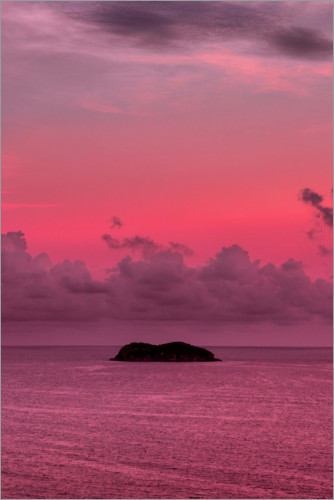 Poster Île fluo