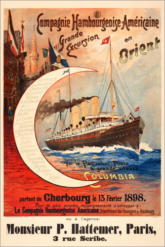 Poster Compagnie Hambourgeoise-Américaine