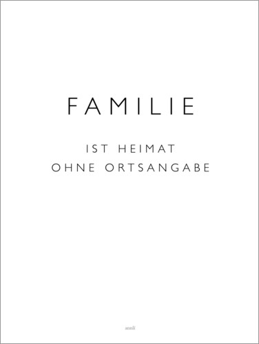 Poster Famille (allemand)