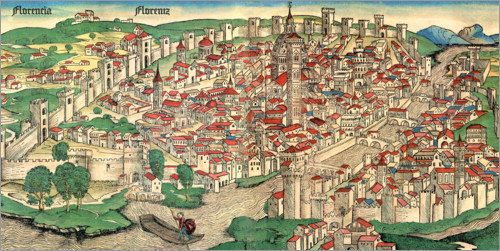 Poster Florence vers 1490