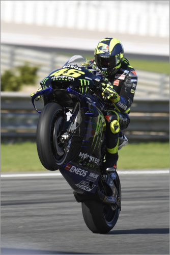 Poster Valentino Rossi, Yamaha Factory Racing, GP moto de Valence 2019