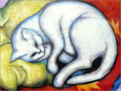 Poster Le chat blanc