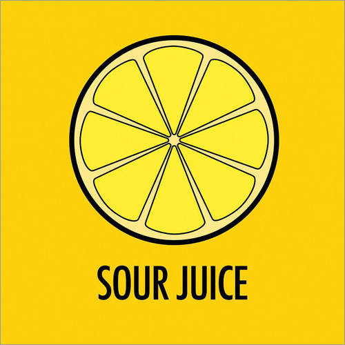Sticker mural Sour Juice