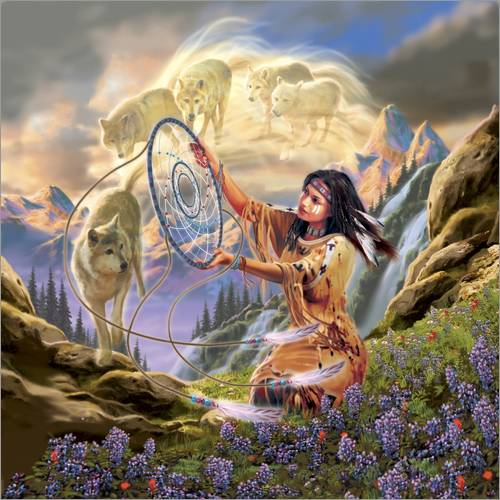 Sticker mural Dream catcher