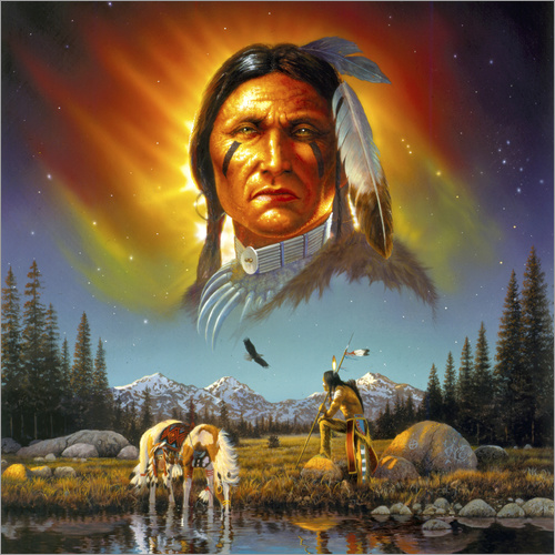 Sticker mural Chef Eagle Feather