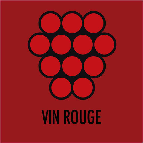 Sticker mural Vin rouge