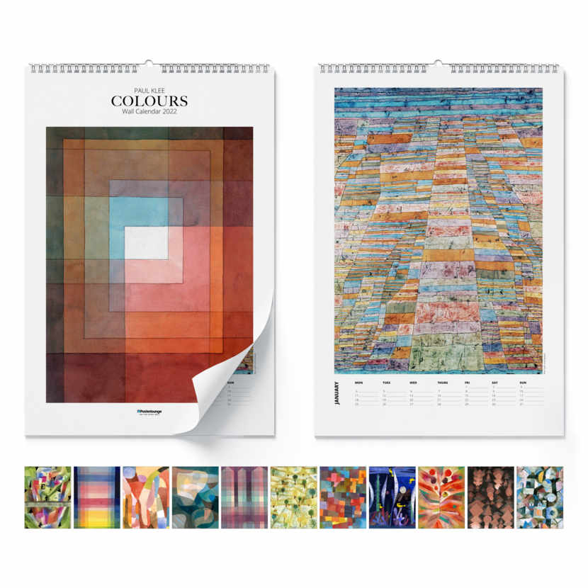 Calendrier mural Paul Klee, Colours 2021