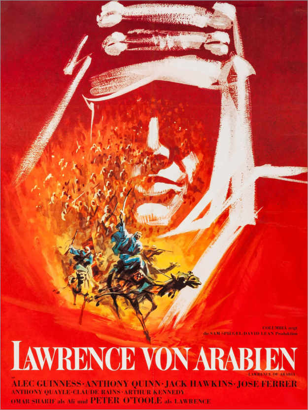 Poster Lawrence d'Arabie (allemand)