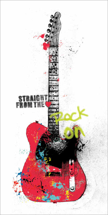 Poster Graffiti de guitare