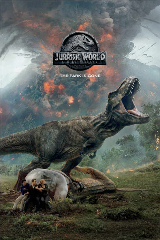Poster Jurassic World : The park is gone