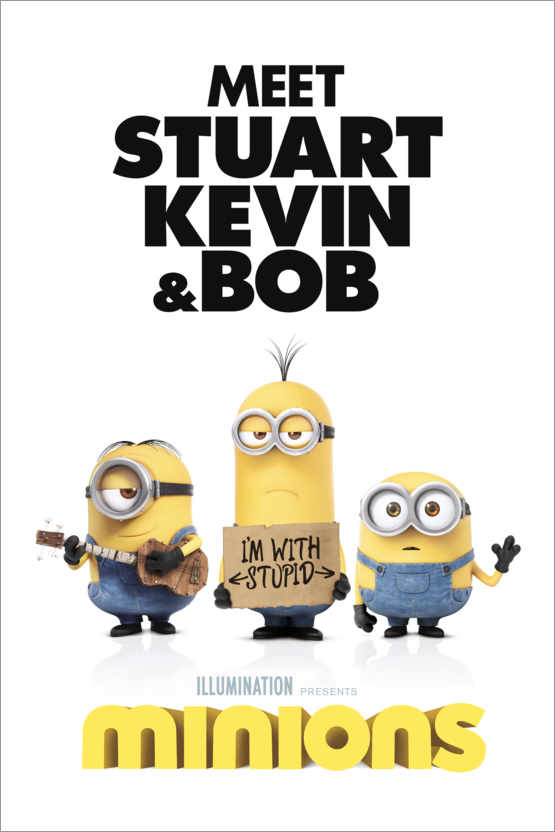 Poster Minions - I'm with stupid