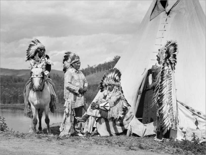 Poster Sioux in front of a Tepee