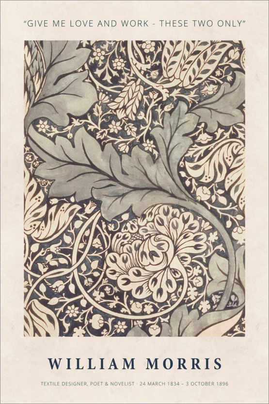 Poster William Morris - Love and work