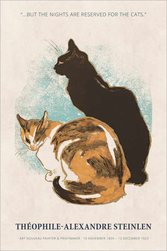 Poster Théophile-Alexandre Steinlen - Reserved for the cats