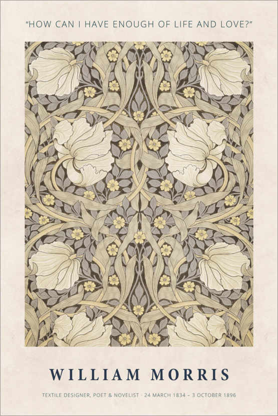 Poster William Morris - Life and love