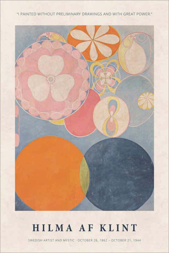 Poster Hilma af Klint - With great power