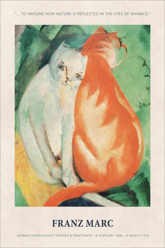 Poster Franz Marc - In the eyes of animals
