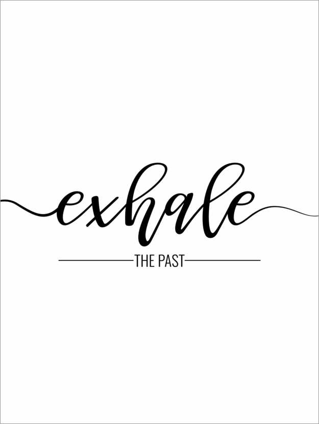 Poster Exhale the past