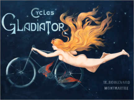 Poster  Cycles Gladiator - Georges Massias