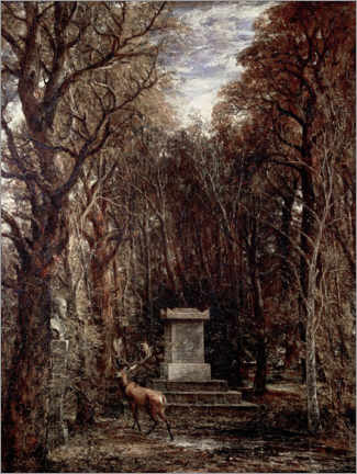 Tableau en bois  The Cenotaph to Reynold's Memory - John Constable