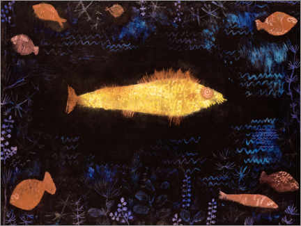Sticker mural  Le poisson d'Or - Paul Klee