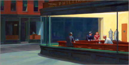 Poster  Nighthawks - Edward Hopper