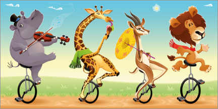 Poster  Les animaux musiciens - Kidz Collection