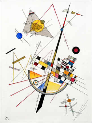 Poster  Tension délicate - Wassily Kandinsky