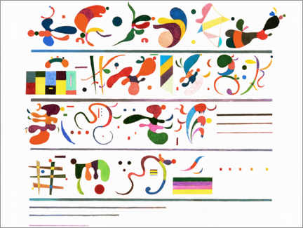 Tableau en PVC  Succession - Wassily Kandinsky