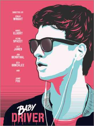 Poster  Baby Driver (anglais) - Golden Planet Prints